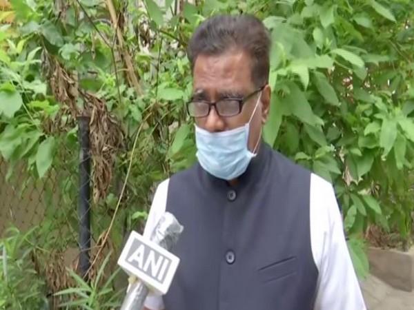 BJP Telangana spokesperson NV Subhash talking to ANI on Tuesday.