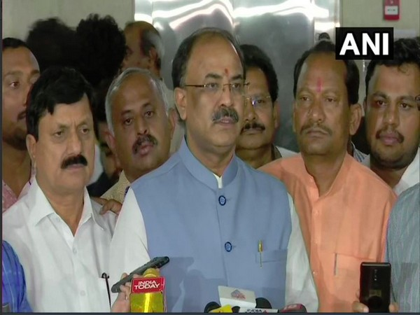 BJP MLA Arvind Limbavali speaking to reporters on Tuesday in Bengaluru. Photo/ANI