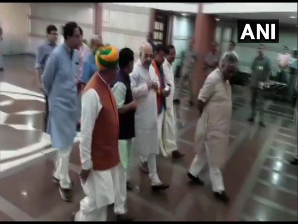BJP leaders arrive for parliamentary party executive committee meet in New Delhi on Sunday.