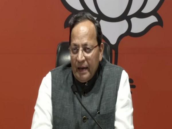 BJP general secretary Arun Singh at a press conference in New Delhi on Thursday. Photo/ANI