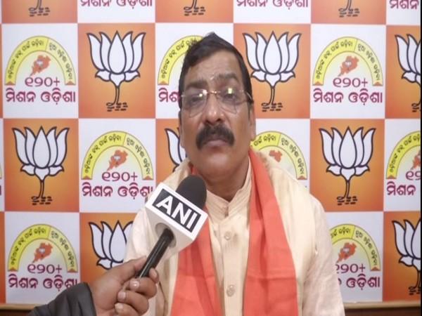 BJP leader Golak Mohapatra speaking to ANI in Bhubaneswar on Friday. Photo/ANI
