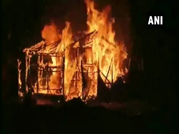 Visuals of BJP office that was set ablaze in Asansol district of West Bengal on Sunday night.