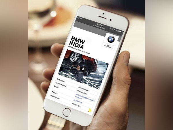 BMW Smart Video interface on smartphone