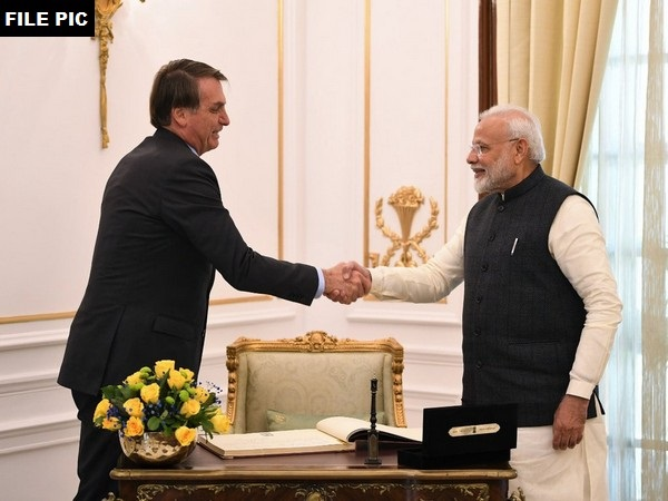 Prime Minister Narendra Modi with President of Brazil Jair Bolsonaro. (File photo/ANI)