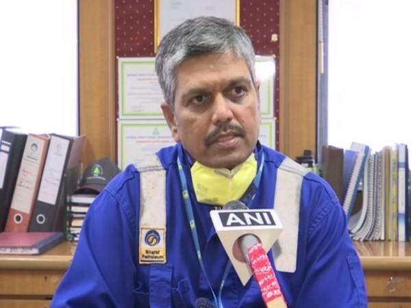 M Somasundaram, DGM, OPS Incharge Sewree installation of BPCL, speaking to ANI on Monday. Photo/ANI