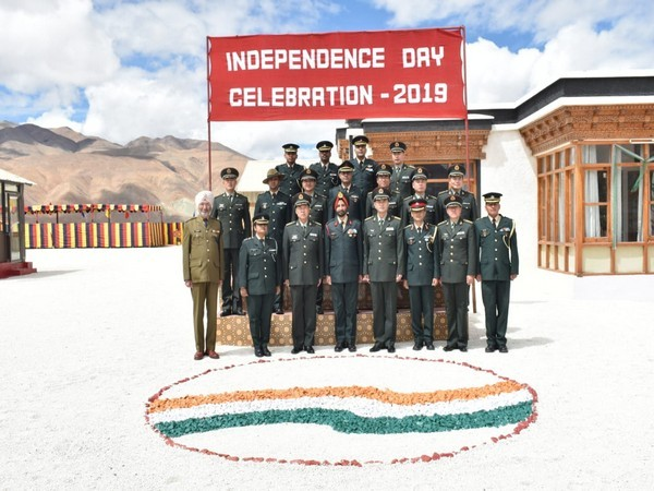 """A ceremonial BPM was held on the occasion of """"Indian Independence Day"""" in Eastern Ladakh."""