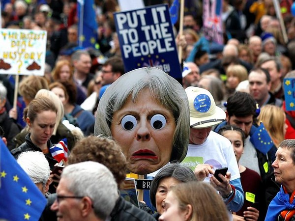 Protesters on Saturday at the Put It To The People march in London, UK
