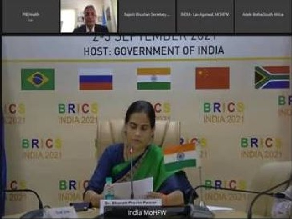 Union Minister of State for Health and Family Welfare Dr Bharati Pravin Pawar at BRICS Ministerial Conclave.
