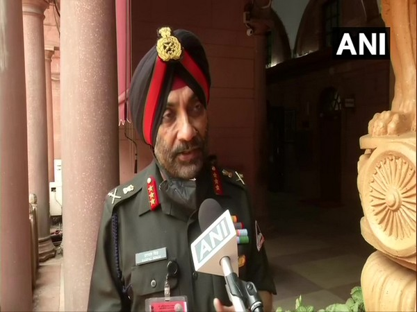 BRO Director General Lieutenant General Harpal Singh speaking to ANI in New Delhi on Thursday. (Photo/ANI)