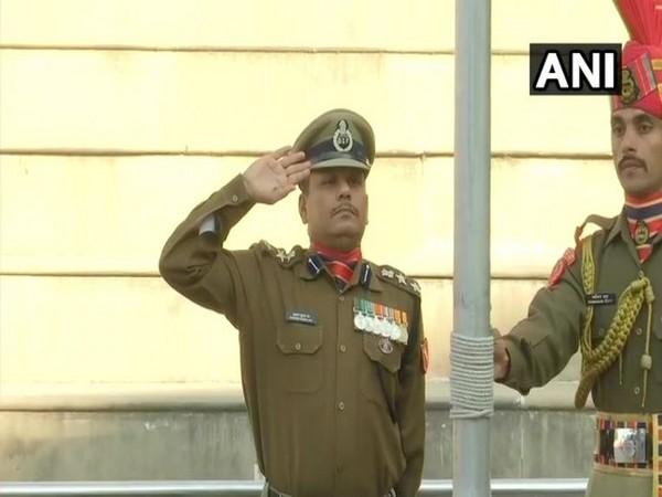 BSF Commandant Mukund Kumar Jha hoisted the national flag at the Attari-Wagah border in Amritsar on Republic Day