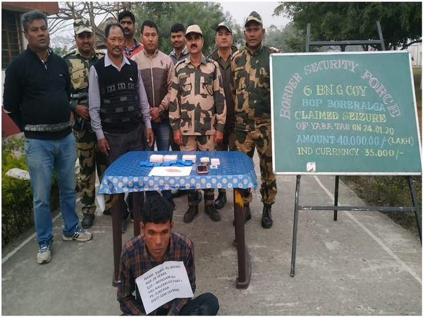 BSF seized 8,000 Yaba tablets from the possession of an Indian national on Friday.