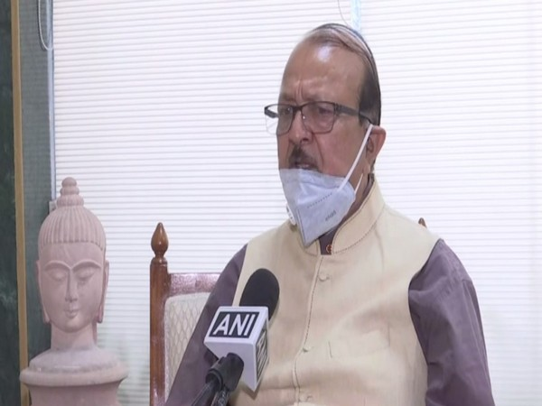 BSP national spokesperson Sudhindra Bhadoria speaking to ANI in New Delhi on Saturday. Photo/ANI