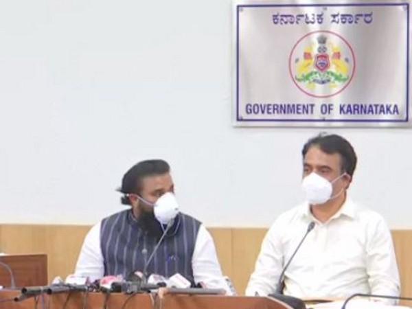 Karnataka Health Minister B Sriramulu addressing a press conference on Monday. (Photo/ANI)