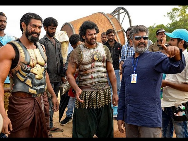 The behind the scene image shared by actor Prabhas on third anniversary of 'Baahubali: The Conclusion' (Image courtesy: Instagram)