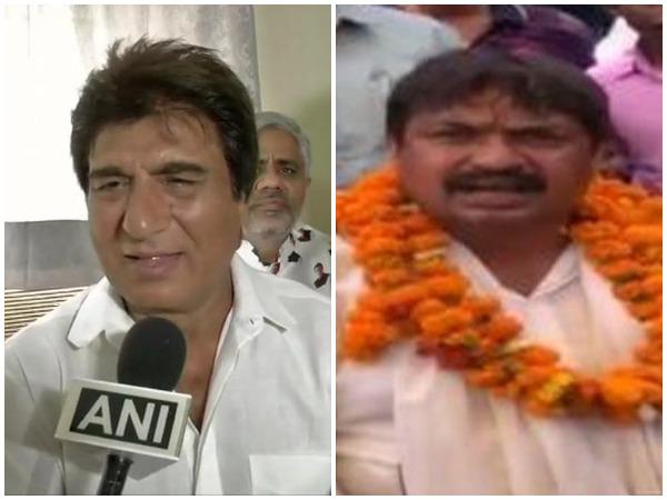 Congress leader Raj Babbar (left) and Guddu Pandit (right)