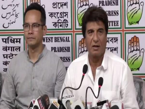 Congress leader Raj Babbar while addressing a press conference in Kolkata. Photo/ANI