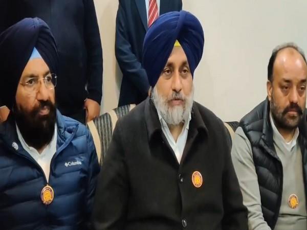 Shiromani Akali Dal President Sukhbir Singh Badal (Photo ANI)