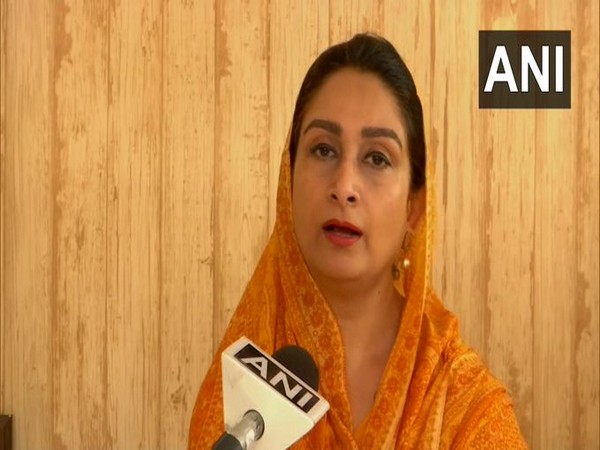 SAD leader Harsimrat Kaur Badal talking to ANI on Friday. Photo/ANI