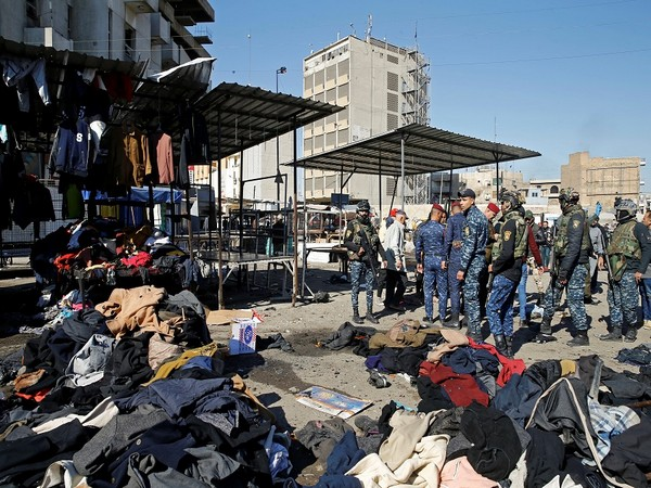 Site of twin suicide bombings in Baghdad (Photo Credit - Reuters)
