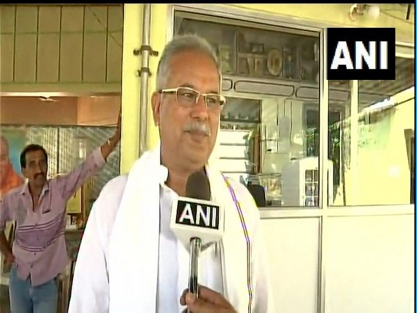 Chhattisgarh Chief Minister Bhupesh Baghel speaking to ANI in Durg on Tuesday.