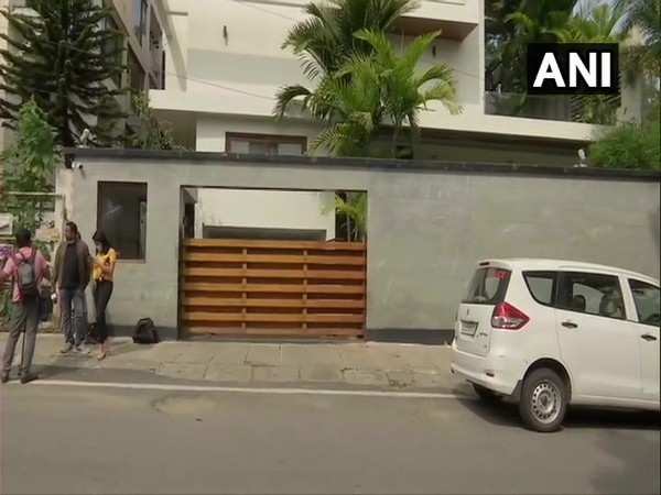 A visual from outside the residence of Roshan Baig on Monday. Photo/ANI