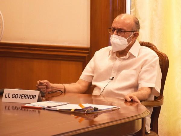 Delhi Lieutenant Governor Anil Baijal at the Task Force Meeting on Thursday.