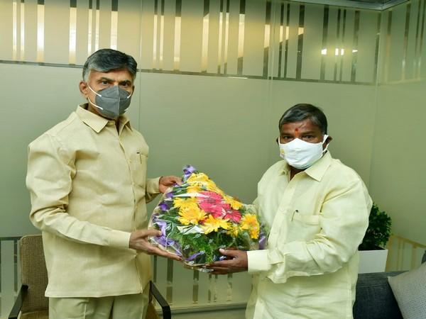 N. Chandrababu Naidu appointed Bakkani Narasimhulu as new president of  Telangana TDP. (Photo/ANI)