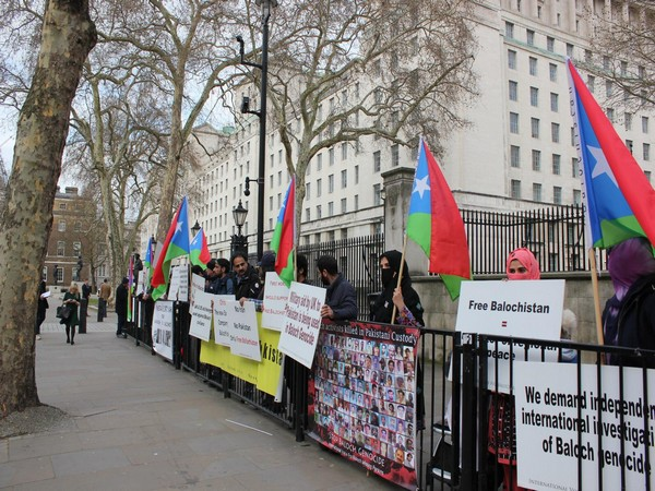 File pic of Baloch protest in London