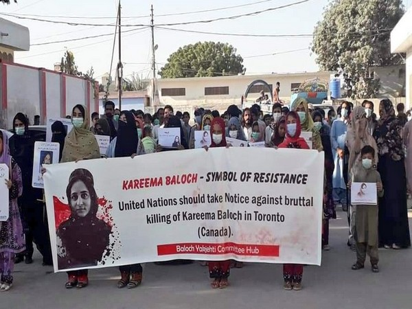 Hundreds gathered at various places across Balochistan demanding Canadian government to conduct a transparent investigation into Karima's sudden death (Photo Credit: Fazila Baloch Twitter)