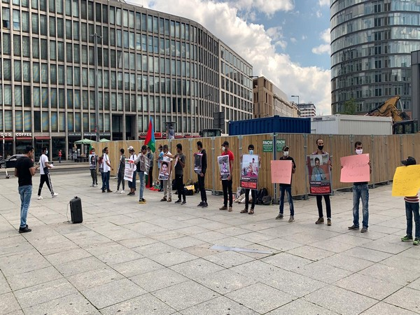 Baloch activists in Germany protested against human rights violations in Balochistan