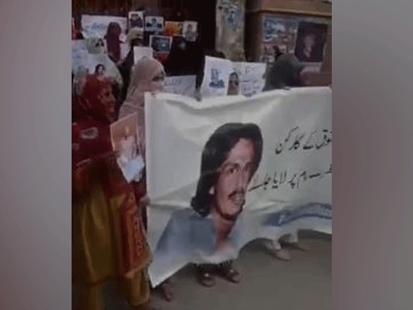 Baloch women protests against enforced disappearances in Quetta