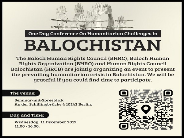 Human rights groups to hold joint conference on Balochistan in Berlin