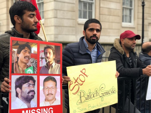 Baloch activists hold protest outside 10 Downing Street in London