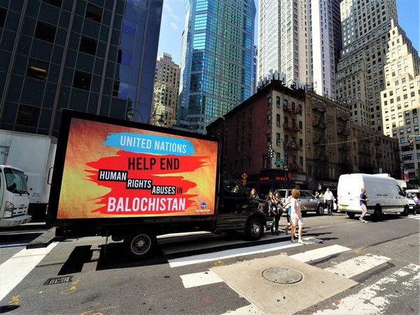WBO has launched an awareness campaign in New York City in a bid to highlight the alarming human rights situation in Balochistan. Photo/ANI