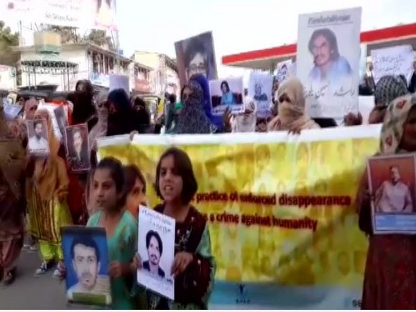 Baloch women protests against enforced disappearances in Quetta earlier this month (File photo)