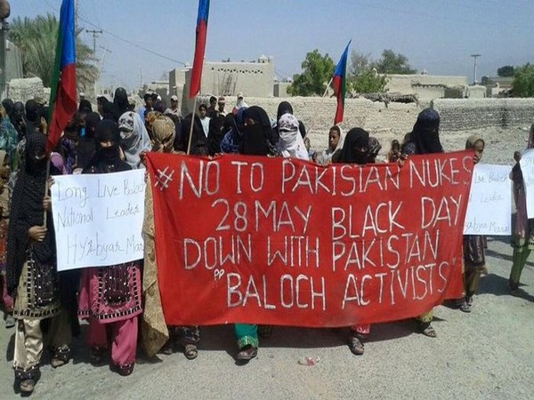 Supports of Baloch People's Congress protesting against the nuclear tests that were carried out by Pakistan in the Chagai district of Balochistan.