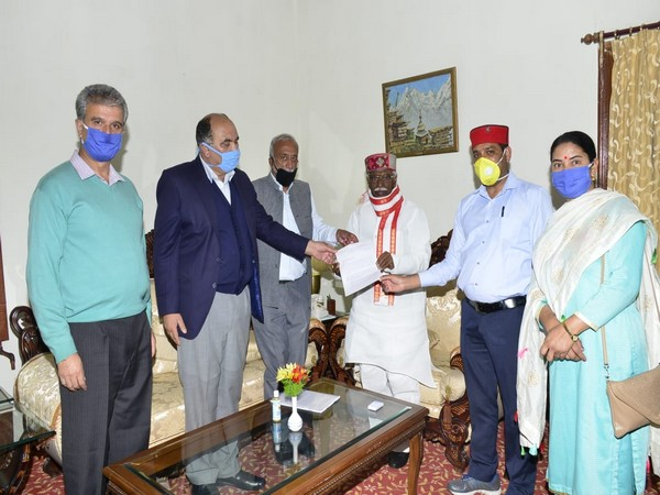 CPI (M) leaders with Himachal Pradesh Governor