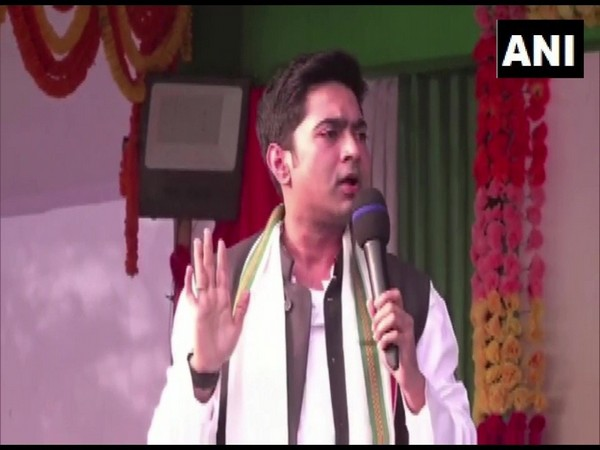 Abhishek Banerjee addressing a rally in South Dinajpur on Thursday.