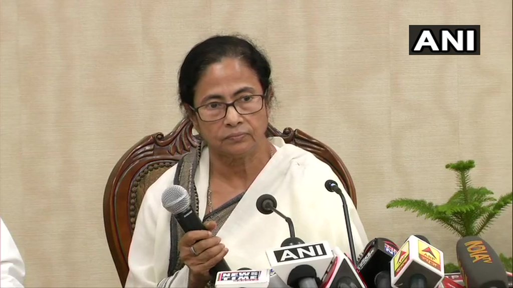 West Bengal Chief Minister Mamata Banerjee speaking to reporters in Kolkata on Saturday.