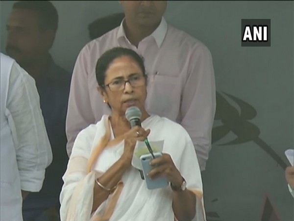 West Bengal Chief Minister Mamata Banerjee speaking at the state secretariat in Howrah on Monday. Photo/ANI