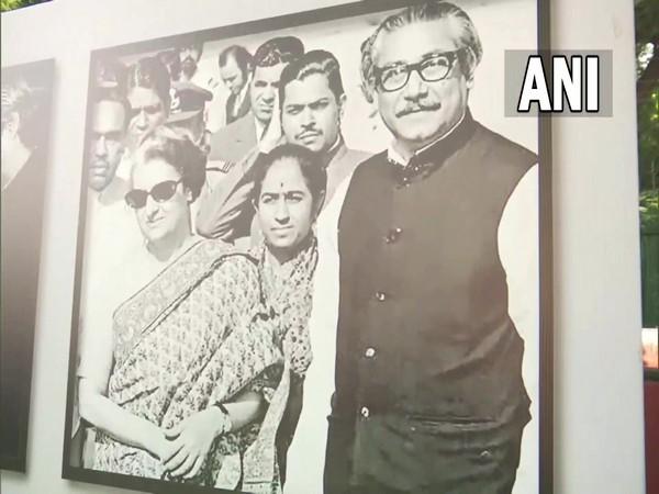 Picture of former PM Indira Gandhi and Sheikh Mujibur Rahman (Photo/ANI)
