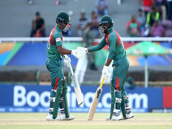 Bangladesh batsmen during the run-chase. (Photo/Cricket World Cup twitter)