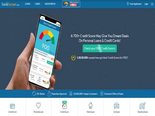BankBazaar Home page