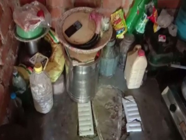 Toilet made under the Swachh Bharat Mission has been converted into a kitchen in Barabanki (Photo/ANI)