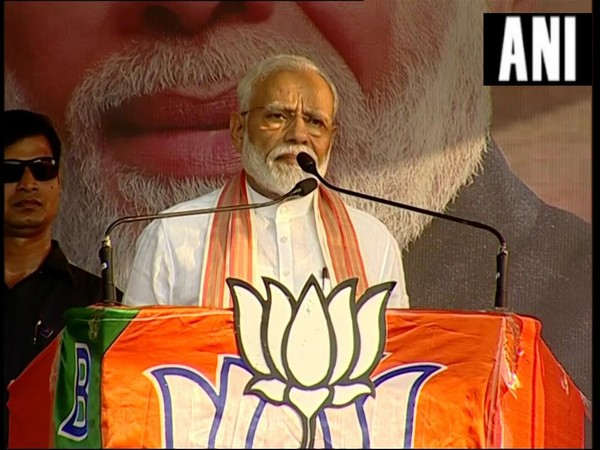 Prime Minister Narendra Modi at an election rally in Basirhat on Wednesday. Photo/ANI