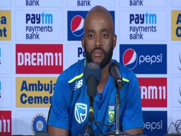 South Africa batsman Temba Bavuma.