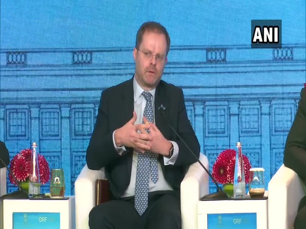 Gareth Bayley, UK Foreign and Commonwealth Office Director for South Asia, speaking at the Raisina Dialogue 2020 in New Delhi on Thursday.