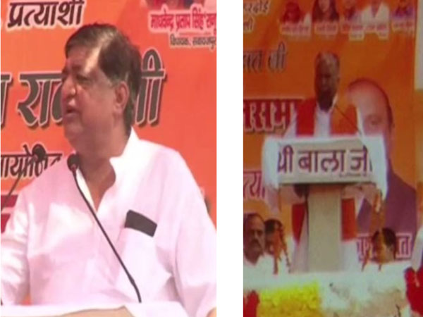 BJP leaders Naresh Agrawal, left, and Ashok Vajpayee, right