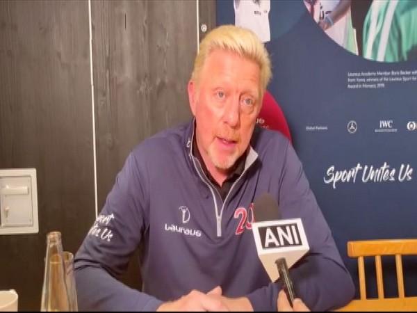 Former German tennis player Boris Becker
