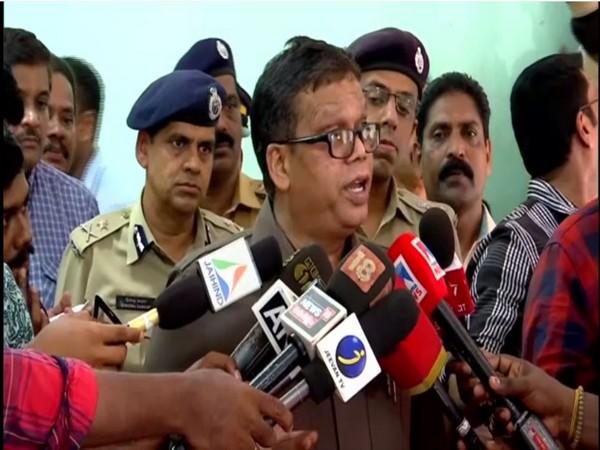 Kerala DGP Loknath Behera speaking to reporters in Thiruvananthapuram on Monday. Photo/ANI